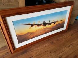 Picture in frame _ww2 bomber