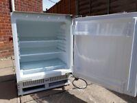 White integrated fridge