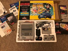 Super Nintendo Console Mario All Stars Edition in Fantastic Condition with extras