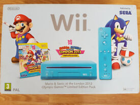 Limited Edition Blue Wii Nintendo Console