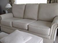 3 Seater Sofa excellent condition +footstool