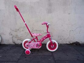 Toddlers First Bike with Parent Handle, Pink, New Condition, CHEAP PRICE!!!!!!!!!!!!!!!
