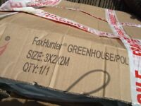 Greenhouse pollytunnel green cover 3x2x2m