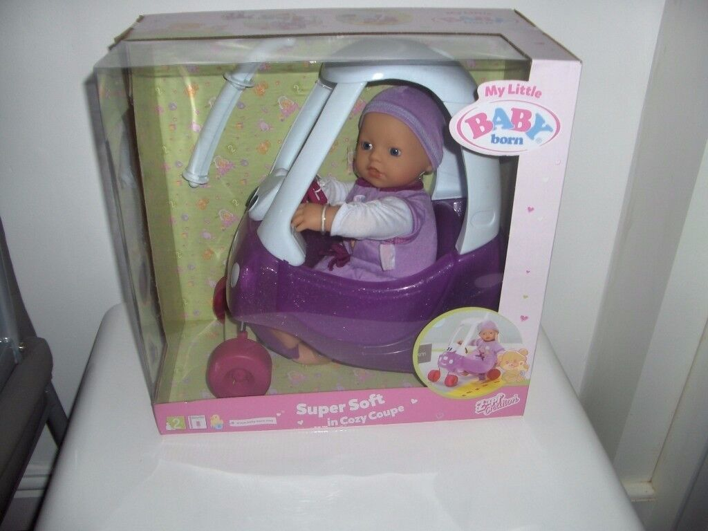 BABY BORN SUPERSOFT IN A COZY COUPE BRAND NEW