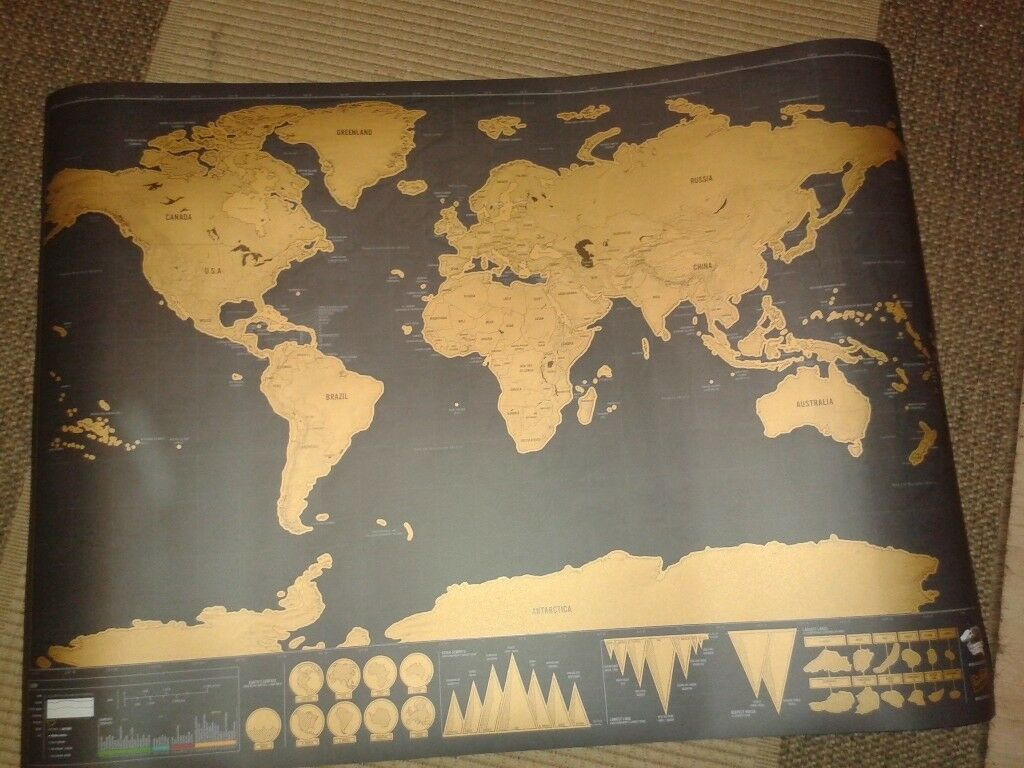 Black and gold deluxe edition scratch map in chandlers ford black and gold deluxe edition scratch map gumiabroncs Image collections