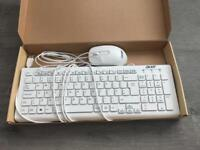 Acer Computer Wired Keyboard and Mouse BRAND NEW