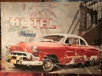 Vintage Cuban Car Canvas