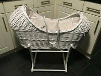 Apples and pears moses basket from mothercare
