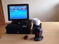 EPOS Touch Screen Till/cash register using CES Software with printer, bar code scanner etc