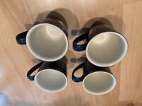 Denby Boston blue mugs