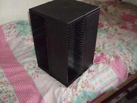 Carousel 4 sided 3D spinning CD rack