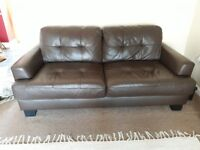 Modern design good quality 3 Seater Brown Leather Sofa, excellent condition, buyer to collect