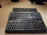 Only £10 for 3 Fully Functional Computer Keyboards