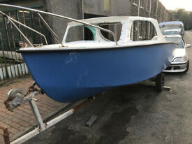 Fishing Boat Project including Refurbished Trailer