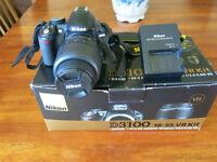 Nikon D3100 Camera with 18-55mm lems.