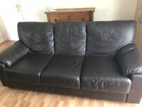 2 & a 3 Brown leather suite