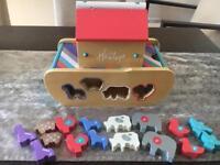 Hamleys animal ark shape sorter playset