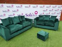 Brand new plush velvet 3+2 seater sofa set with free matching footstool included🔥🔥🔥