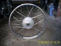 Kawasaki ke100 front wheel