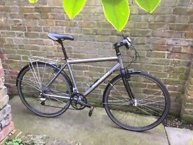 hybrid Marin bicycle aluminium frame and carbon fork ready to go