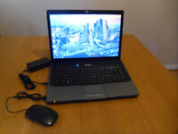 Laptop HP 530, 80GB HDD, 2GB RAM, windows 10 plus USB mouse