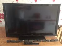 """Technika 42"""" 3d tv with 6 pairs of glasses"""