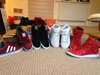 4 pairs of brand new men's addidas trainers size 9 job lot