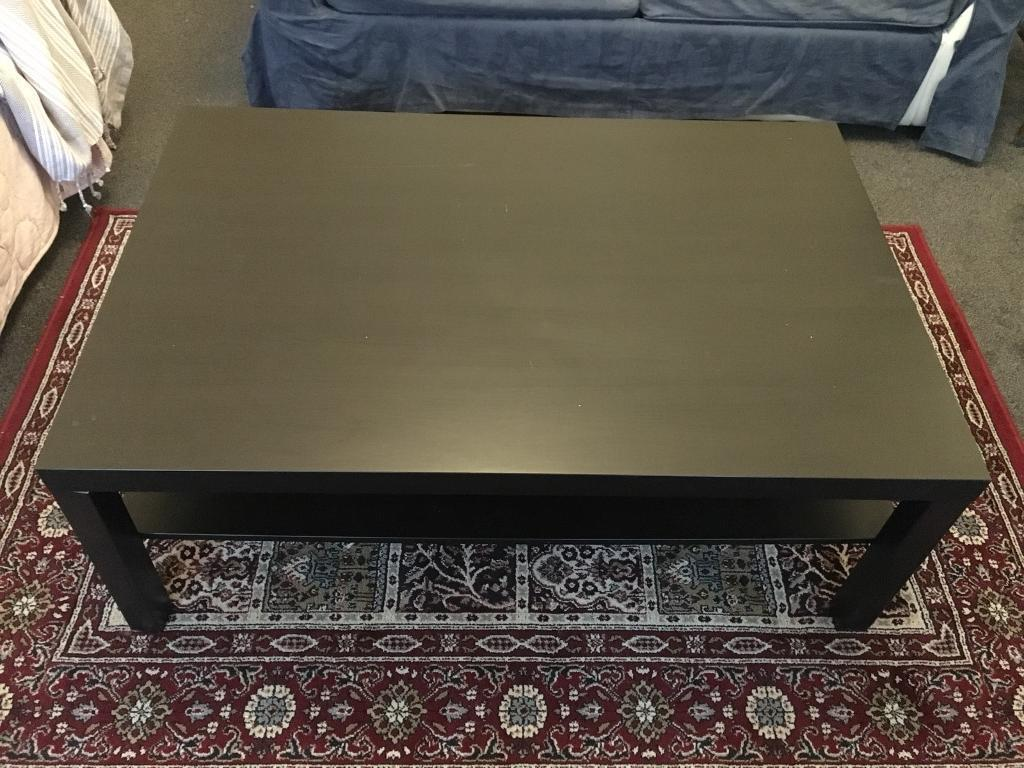 Large Black Ikea Coffee Table Side Collection Only