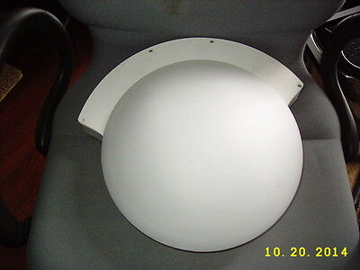 (Tico Emergency System Round Frosted Glass Ceiling Fixture or Wall Mount Light)