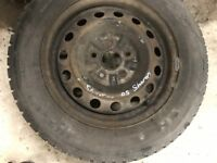06 VW SHARAN SPARE WHEEL WITH NEW TYRES 16 INC