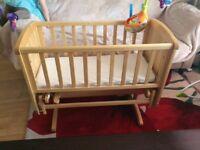 Mothercare deluxe gliding crib £50