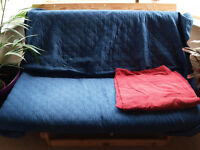 Ikea Futon, double, two covers - Free, collection only