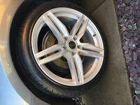 Audi A4 RS 6 style alloys and tyres for sale
