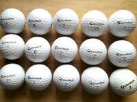 Taylormade 15 golf balls excellent condition; Rocketball, tour preferred, xp ldp, PENTATP5