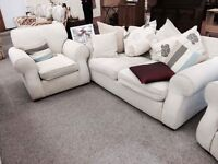 Cream 2 seat sofa and one chair