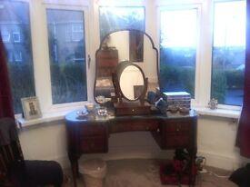 Mahogany Victorian Dressing Table.