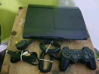 Ps3 super slim, 12gb, one controller, all wires
