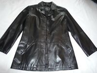 Lakeland ladies leather jacket. Black, size 10, as new.