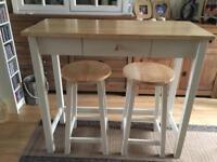 John Lewis Alder Bar Table & Stools