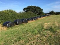 15 large round bales of silage