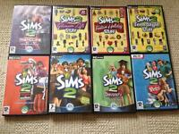 Sims 2 and expansion packs