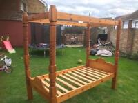 Single Four Poster Bed - Can Deliver