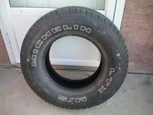 1 Michelin LTX M/S Radial X Tire * P235 75R15 108S * $30.00 .  M+S / All Season Tire ( used tire )