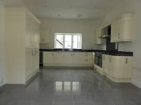 New luxury fitted kitchen with appliances and graite worktop