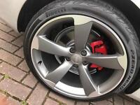 Audi rotor wheels and tires 19