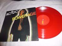 AC/DC RARE POWERAGE LP -RED VINYL-UNPLAYED