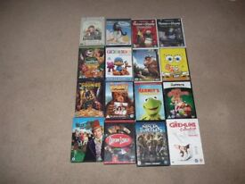 17 Childrens DVD's All mint condition