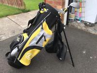 Kids golf club set with stand bad and head cover