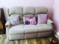 Lovely, well kept <2 years old 3 seater sofa and armchair. Don't have to come as pair