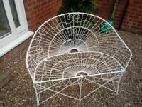 Shabby Chic French styled wrought iron garden furniture